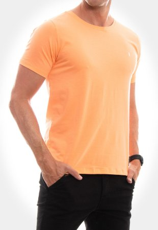 CAMISETA RED FEATHER Básica laranja masculina