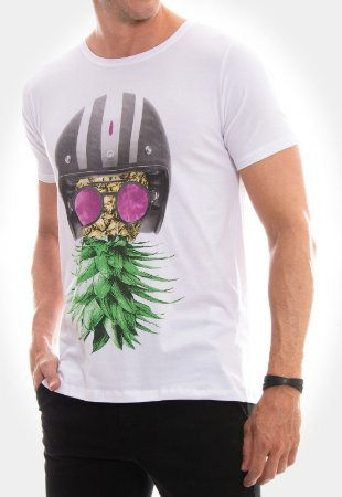CAMISETA RED FEATHER ABACAXI BIKER