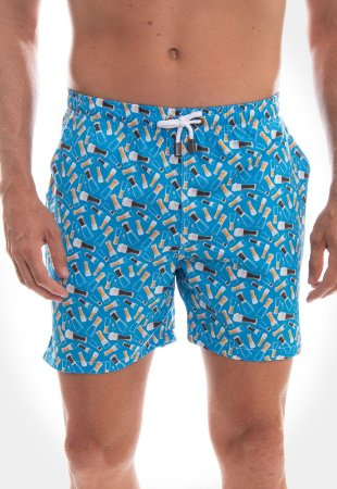 SHORT RED FEATHER SWIM ETHNIC BEERS MASCULINO