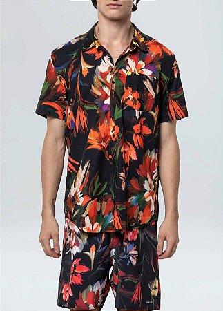 Camisa Osklen Garden manga curta masculina
