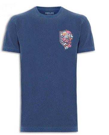 Camiseta Osklen Vintage Brasão Flores masculina