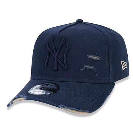 BONÉ NEW ERA  ABA CURVA DESTROYED MLB NEW YORK