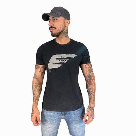 Camiseta Ellus Cotton Washed e Asa Classic