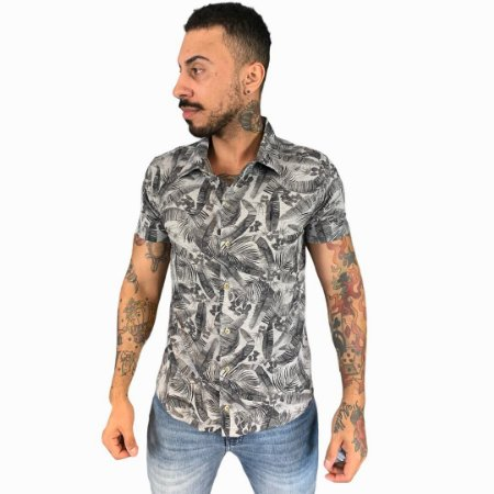 CAMISA RED FEATHER SPORT MESCLA CLARO FOLHAGENS