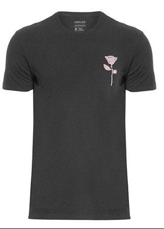 Camiseta Osklen Slim Vintage Rose