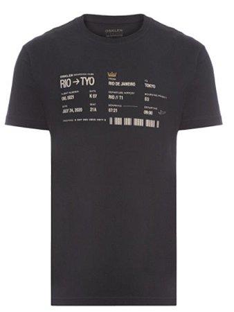 Camiseta Osklen Regular Boarding Pass
