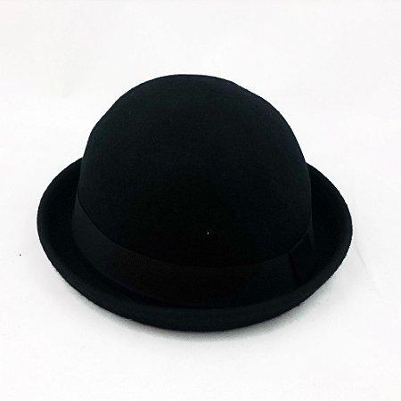 e5e03e6f69b01 Chapéu Coco Bowler Chaplin Preto Unisex - Dom Store Multimarcas ...