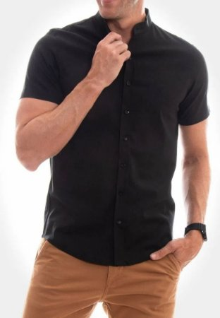Camisa Red Feather Linho Gola Padre