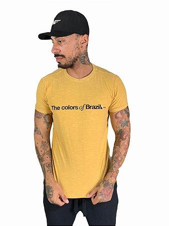 Camiseta Osklen Slim Rough The Colors of  Brazil