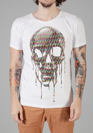 Camiseta Red Feather Fluid Skull