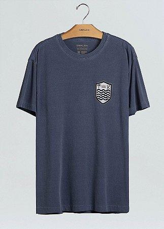 Camiseta Osklen Regular Stone Brasão Ponto Cruz