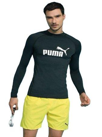 Camiseta Puma Manga Longa Proteção UV50 Masculina