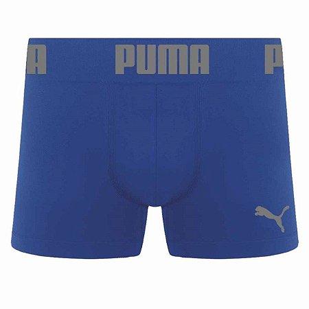 Cueca Long Boxer Puma Sem Costura Azul Royal