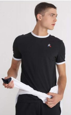 Camiseta Le coq Ess Tee Bicolore N°4 masculina