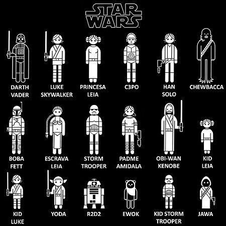 Adesivo Família - Star Wars