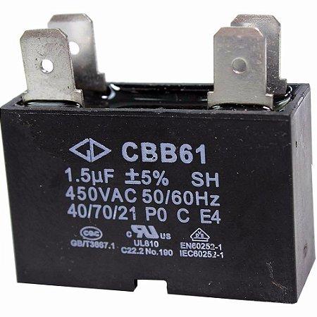 Capacitor Ar Condicionado 1.5 uf Cbb61