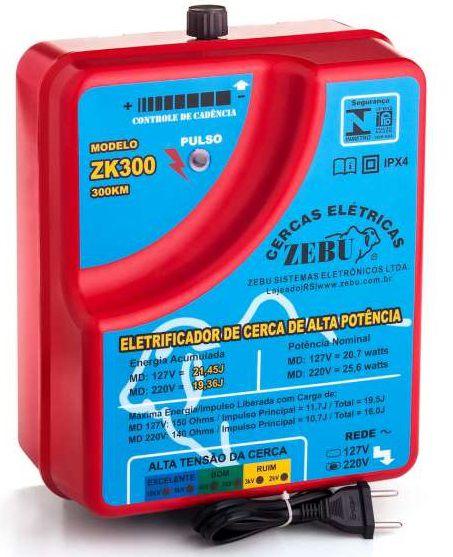 Cerca Elétrica Rural Zebu 300 km - Eletrificador de cerca ZK300
