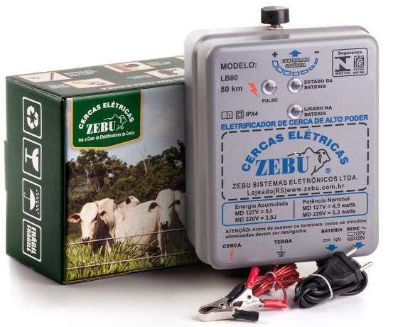 Eletrificador de Cerca Elétrica Rural LB80 Zebu 5 Joules