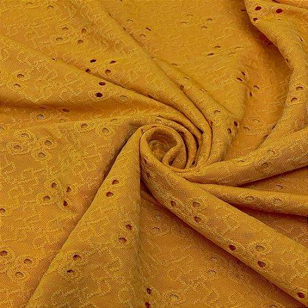 Tecido Malha Laise com Elastano 1,0 x 1,50 - Mostarda