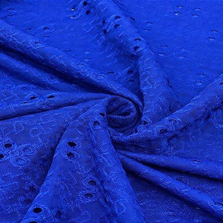 Tecido Malha Laise com Elastano 1,0 x 1,50 - Azul Royal