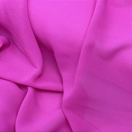 Tecido Crepe Katarina Rosa Pink 1,0 x 1,40