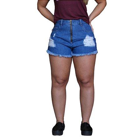 Short Jeans AÉROPOSTALE Escuro Feminino