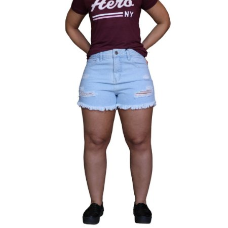 Short Jeans AÉROPOSTALE Feminino Branco