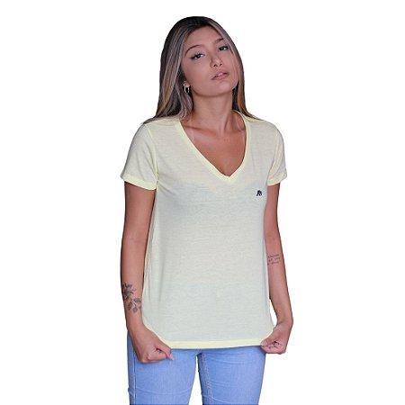 Camiseta Feminina AÉROPOSTALE Básica Amarelo