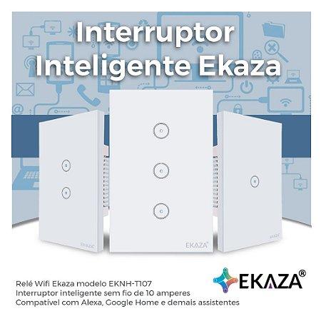 Interruptor Inteligente Touch EKAZA - Wifi - Automação Residencial - EKNH-T107