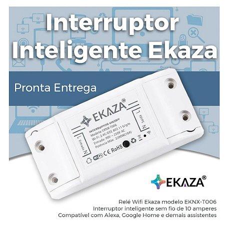 Interruptor Inteligente EKAZA - Wifi - Automação Residencial - Smart Home - EKNX-T006 Basic