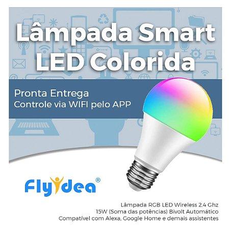 Lâmpada LED Smart Wifi RGB - Lâmpada Inteligente Colorida