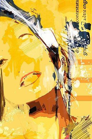 Print - Mulher em amarelo