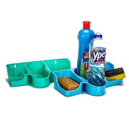 Porta detergente com 3 divisórias Erca Plast
