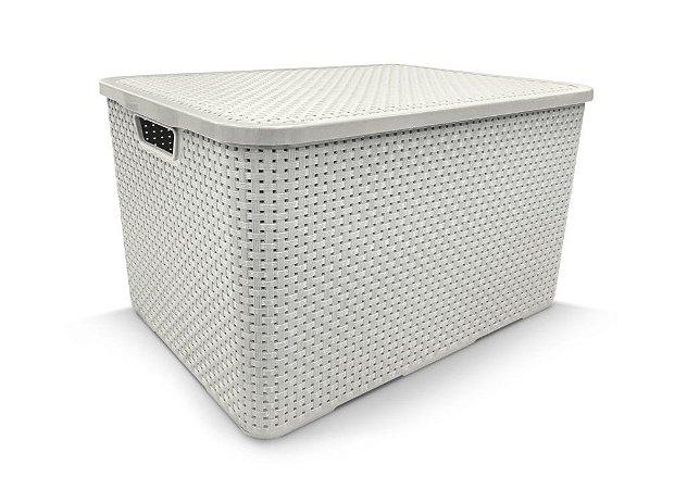 Caixa organizadora 7 litros rattan Arqplast - Branca