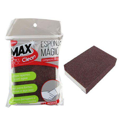 Esponja mágica limpeza pesada Max Clean - Clink