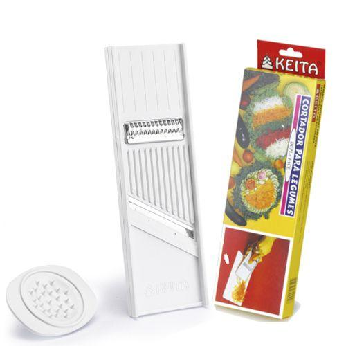 Cortador e ralado de legumes dupla face Keita