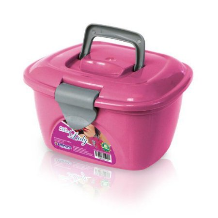 Mini maleta lady box rosa16cm x 15cm x 11cm Arqplast