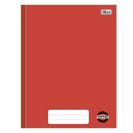 Caderno brochura capa dura 80 folhas  Pepper Tilibra