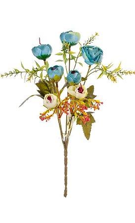 Mini buquê ranúnculo bicolor - Bella flor