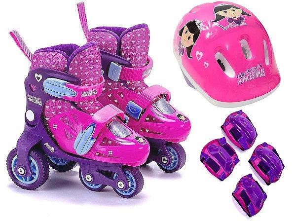 Patins princesinhas kit c/ 4 peças - Unik