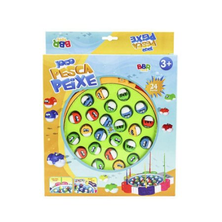 Jogo pesca peixe 24 peixes - BBR toys