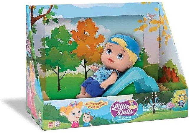 Boneco com escorregador Little dolls - Diver toys
