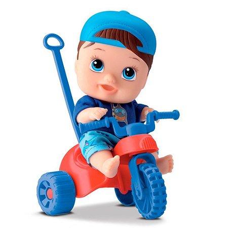 Boneco triciclo little dolls - Diver toys