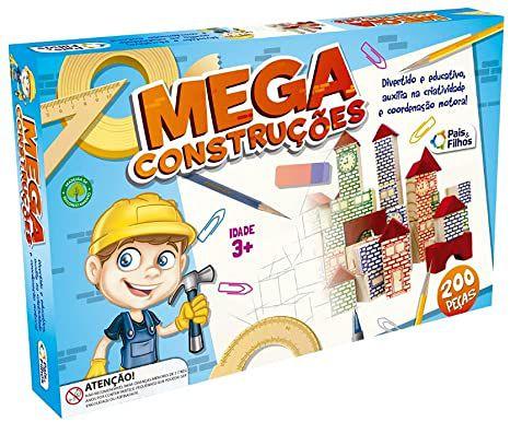 Jogo Mega construções 200peças - Pais e filhos
