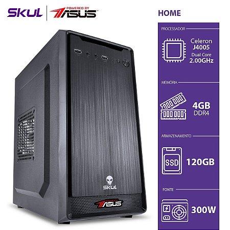 COMPUTADOR HOME H100 POWERED BY ASUS - CELERON J4005 2.00GHZ 4GB DDR4 SSD 120GB HDMI/VGA FONTE 300W