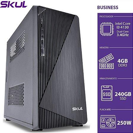 COMPUTADOR BUSINESS B300 - I3 4130 3.4GHZ 4GB DDR3 SSD 240GB HDMI/VGA FONTE 250W