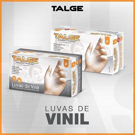 LUVA VINIL S/ PÓ CX C/100 (TAM. M) (TALGE)
