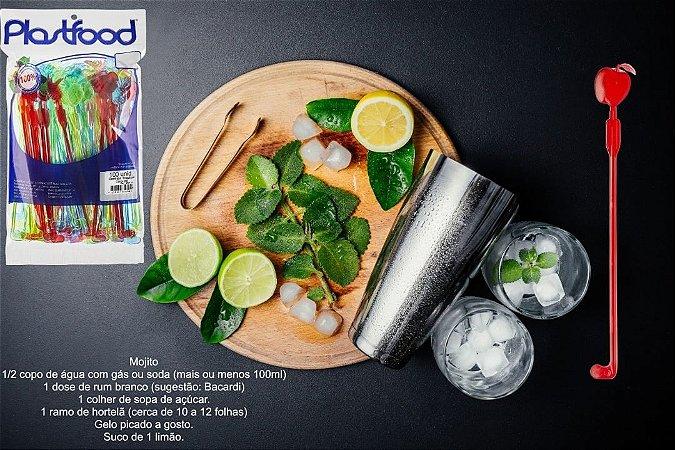 MEXEDOR COCKTAIL TROPICAL (COLORIDO) (PCT C/ 100) - PLASTFOOD