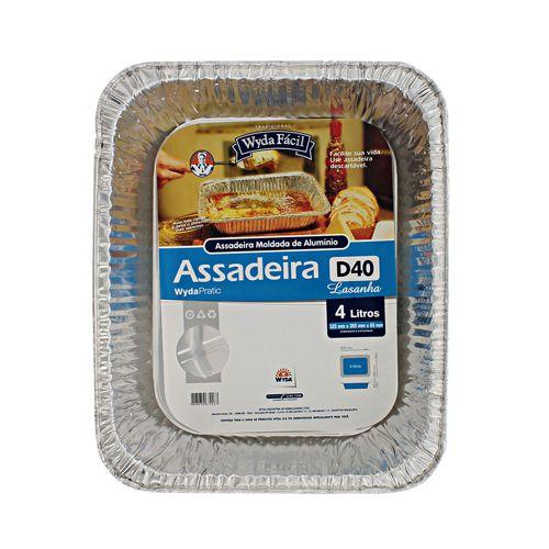 ASSADEIRA DE ALUMINIO RETANGULAR 4lts WYDA (D40)