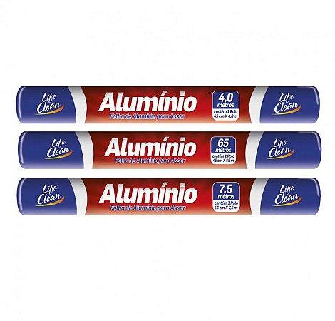 PAPEL ALUMINIO 45cm X 65mts (LIFE CLEAN)
